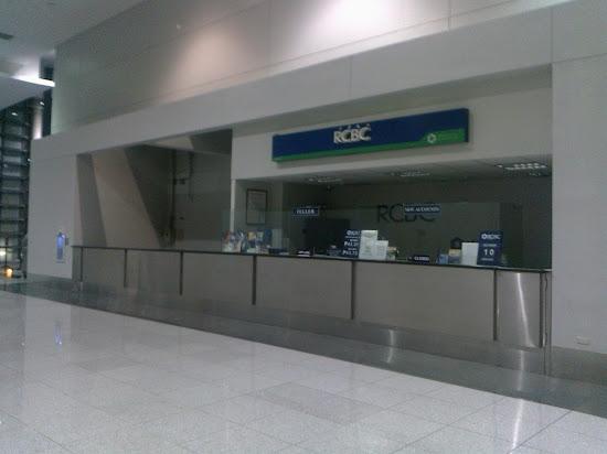 An RCBC branch in NAIA Terminal 3