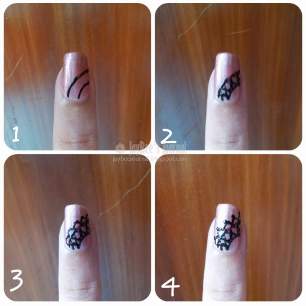 Nail art tutorial for Eid Laces, Pakistani Beauty blog, Pakistani Nail art