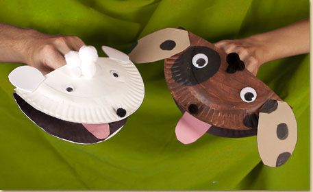 paper plates puppet project