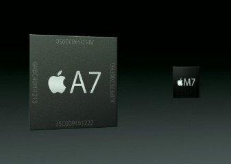 Il nuovo chipset A7 con il co processore M7 sono stati introdotti nell'iPhone 5S con prestazioni doppie rispetto al precedente modello