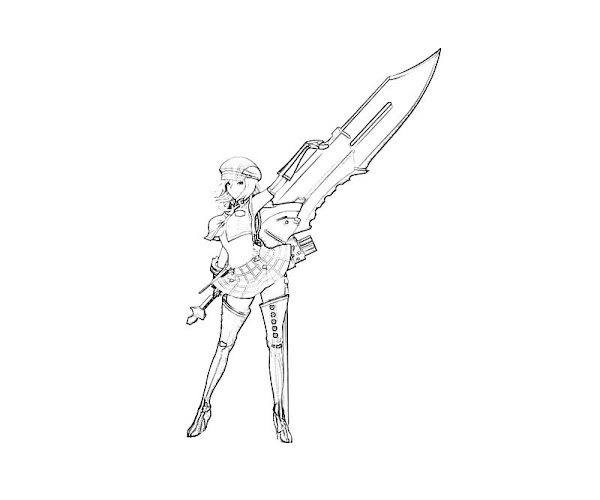 Printable Sword Coloring Pages