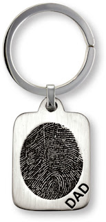 Sterling Silver Fingerprint Tag Key Fob