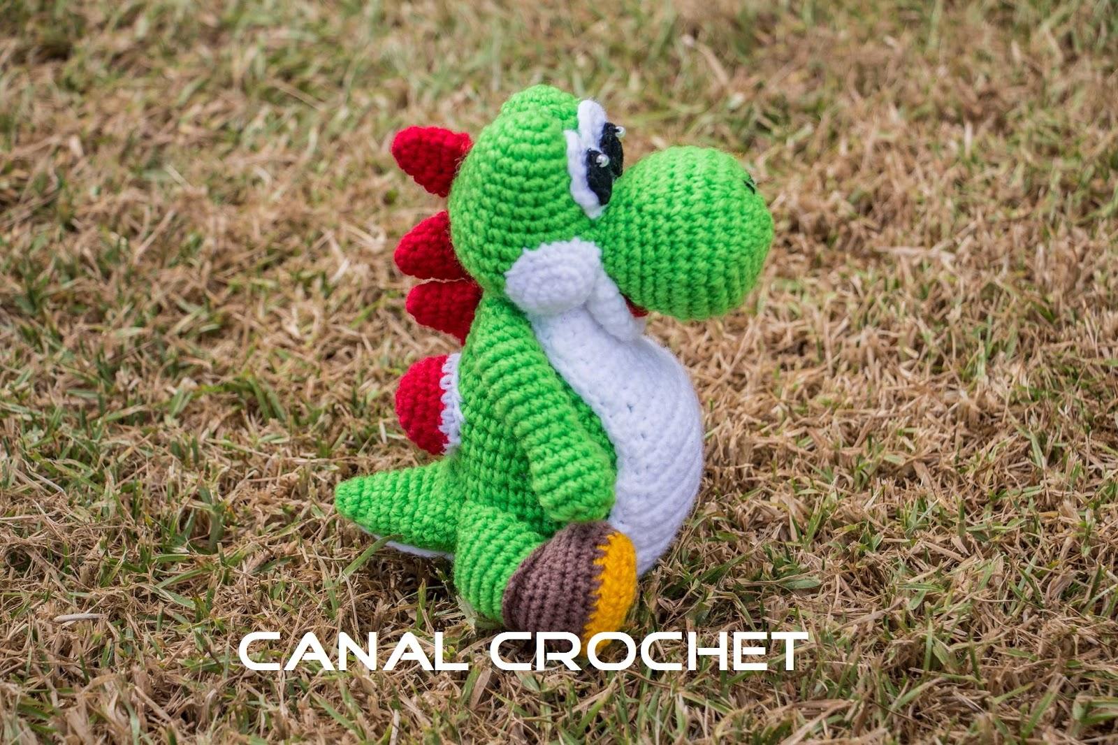 CANAL CROCHET: Yoshi amigurumi patron libre.