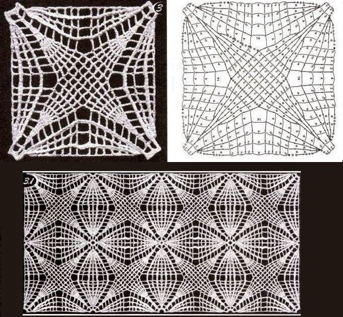 quadradinhos de crochê