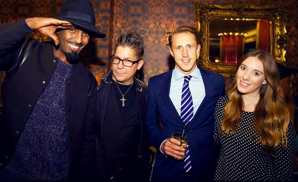 Fashion bloggers Mason, Edd Lumley and Catherine Lux with Photographer Joe Alvarez
