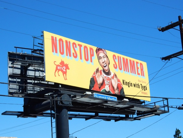 Nonstop Summer Kingin Tyga series billboard