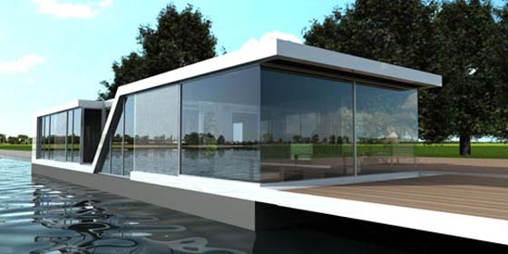 Bedroom design blog floating glass house water villa for Glass house plans
