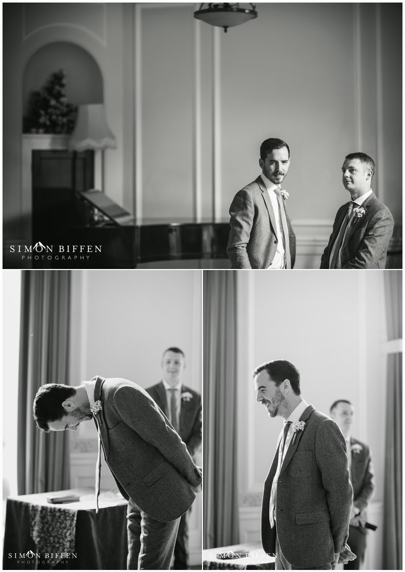 Nervous groom pre wedding