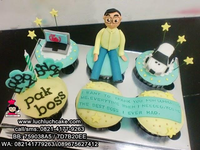 Cupcake Ulang Tahun Untuk Pas Boss Daerah Surabaya - Sidoarjo