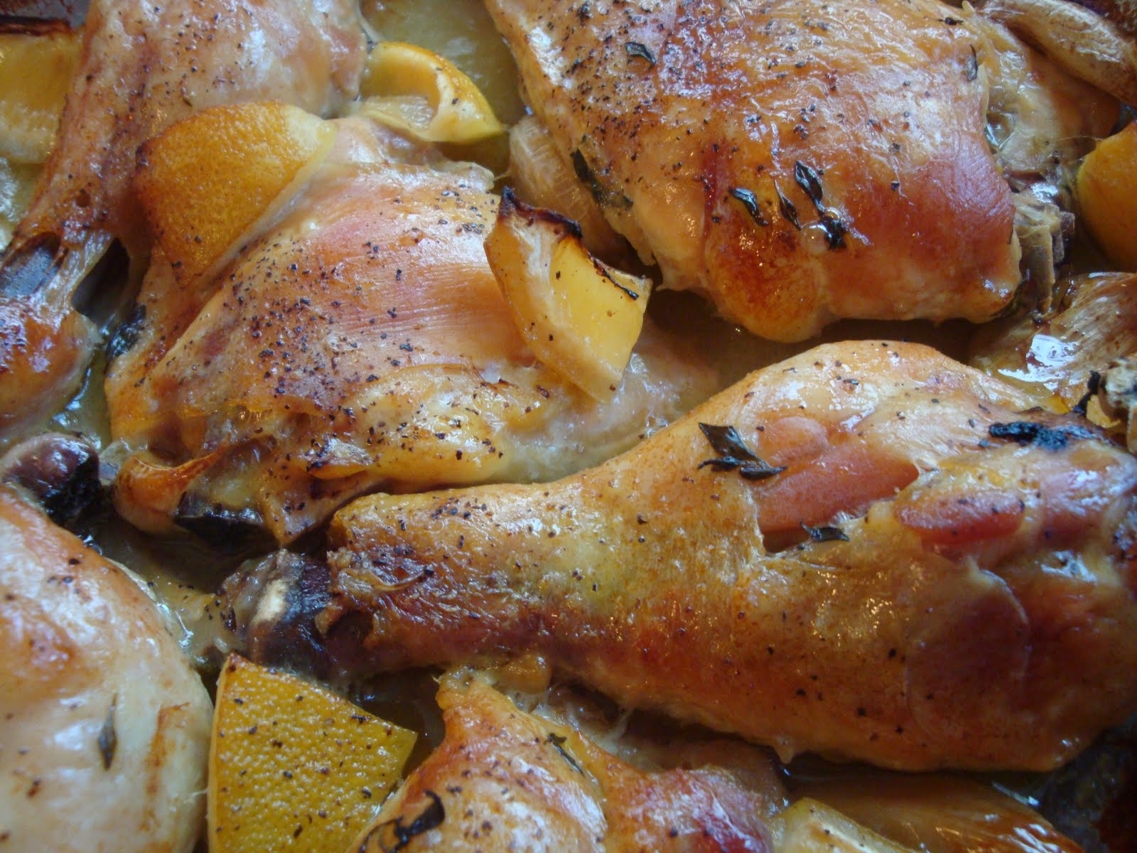 Yummy by Emmy: Slow-Roasted Chicken with Lemon, Garlic & Thyme