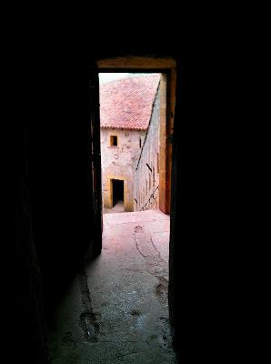 castle, door,
