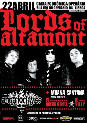 Lords of Altamont + Anti-Clockwise + Moana Santana + Rocha'n'Roll + Billy
