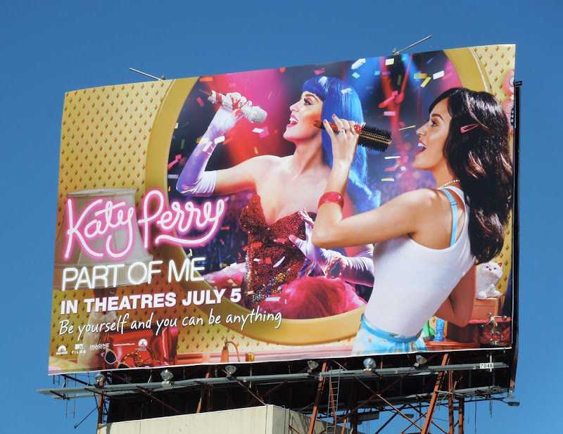 Katy Perry Part of Me mirror image billboard