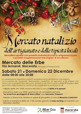 Mercato natalizio dell'artigianato e delle tipicità locali