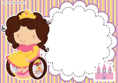 convite aniversário princesa criança especial deficiente