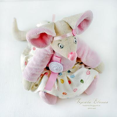 мышка, мышь, игрушка, текстильная игрушка, Буслова Евгения