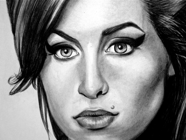 Pacific Pastime Amy Winehouse Tribute Art