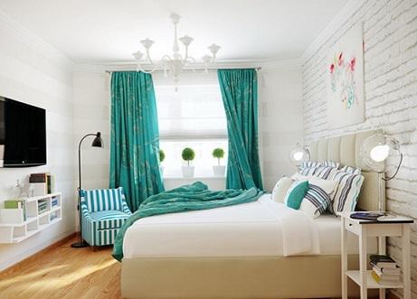 10 dormitorios decorados con turquesa colores en casa for Habitacion blanca y turquesa