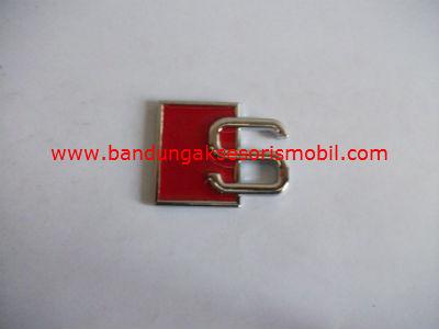 Emblem Tulisan Exclusive Type S Merah/Biru/Putih/Kuning/Hitam