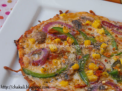veggie pizza, quick pizza recipe, pita bread pizza