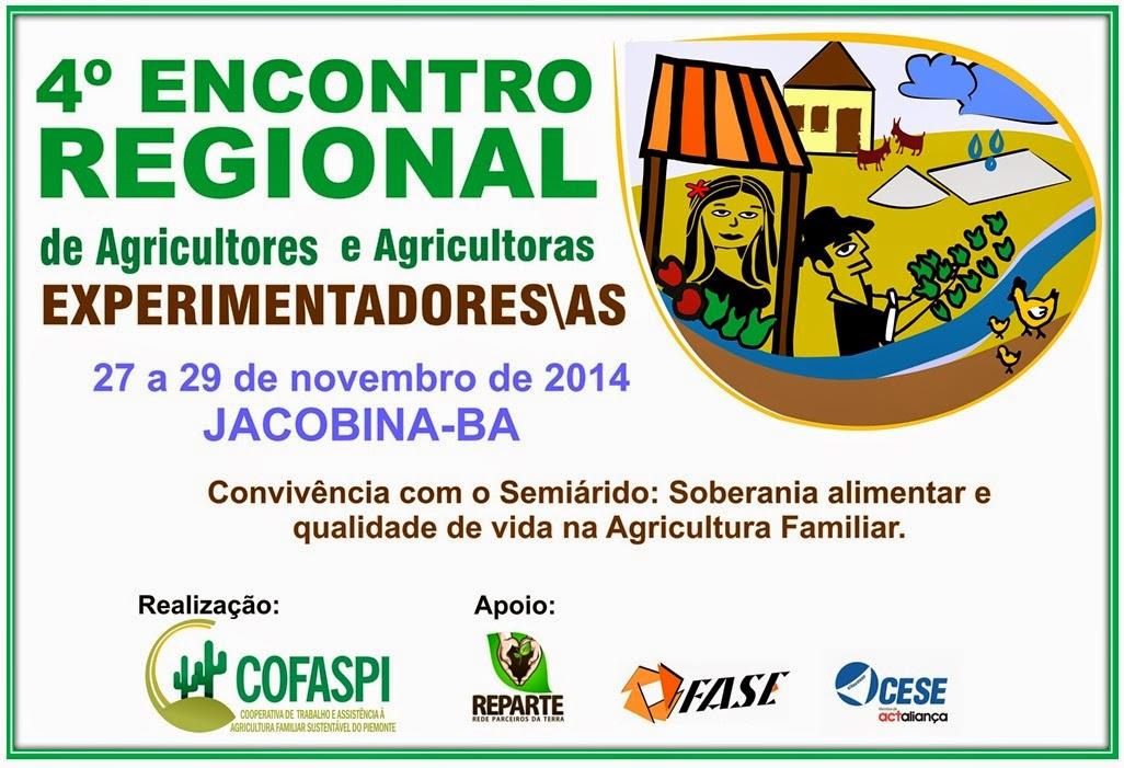 4º ENCONTRO REGIONAL DE AGRICULTORES E AGRICULTORAS EXPERIMENTADORES/AS