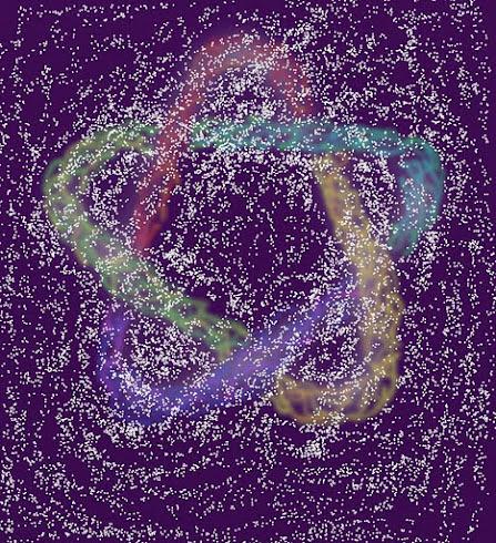Cinquefoil behind stars