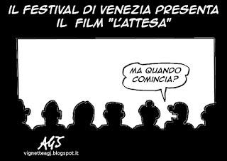 Festival di Venezia, cinema, spettacolo, umorismo, vignetta