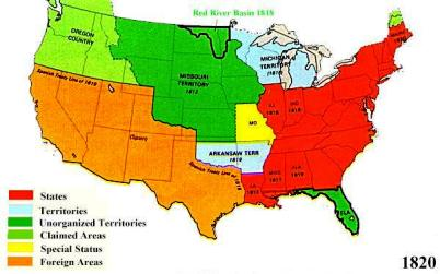 United States Map Westward Expansion Manifest Destiny   Identify ...
