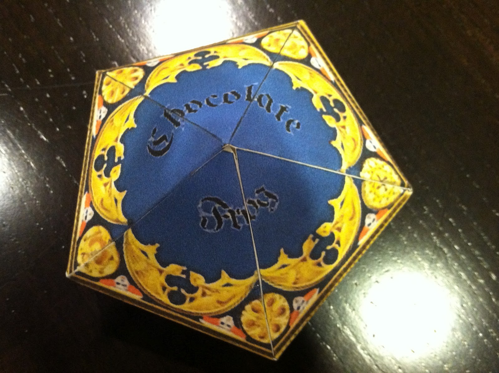 The Empty Suitcase Chocolate Frog Box Template