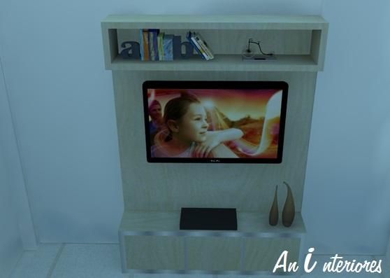 Painel De Tv Para Quarto Com Nicho ~ Perspectiva de apartamento de um casal  AnInteriores