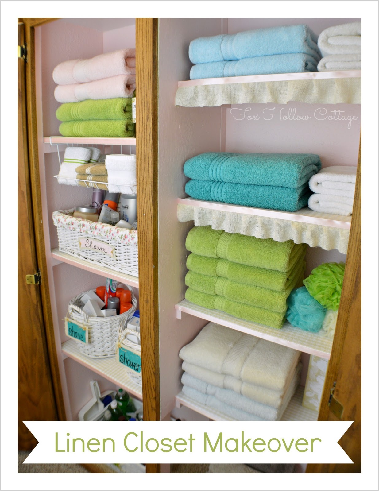 Project Linen Closet Reveal {pretty and organized!} - Fox Hollow ...