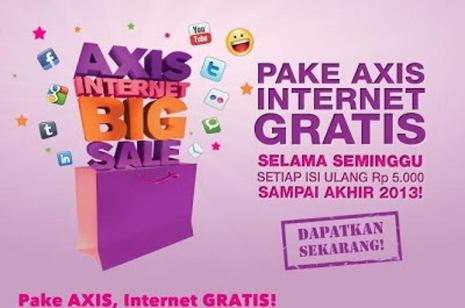 Pake Axis, Internet Gratis Hingga Desember 2013