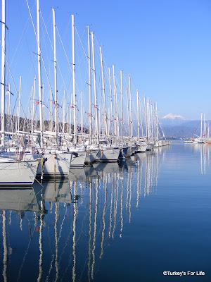 Reflections In Fethiye Marina