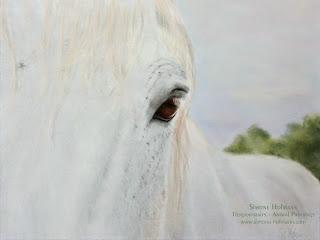 Tierportrait, Pferdeportrait - Pferd mit Pastellkreide malen oder zeichnen lassen