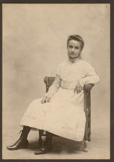 Tillie Kuhn, Indianapolis, estimated age is 12, about 1903.