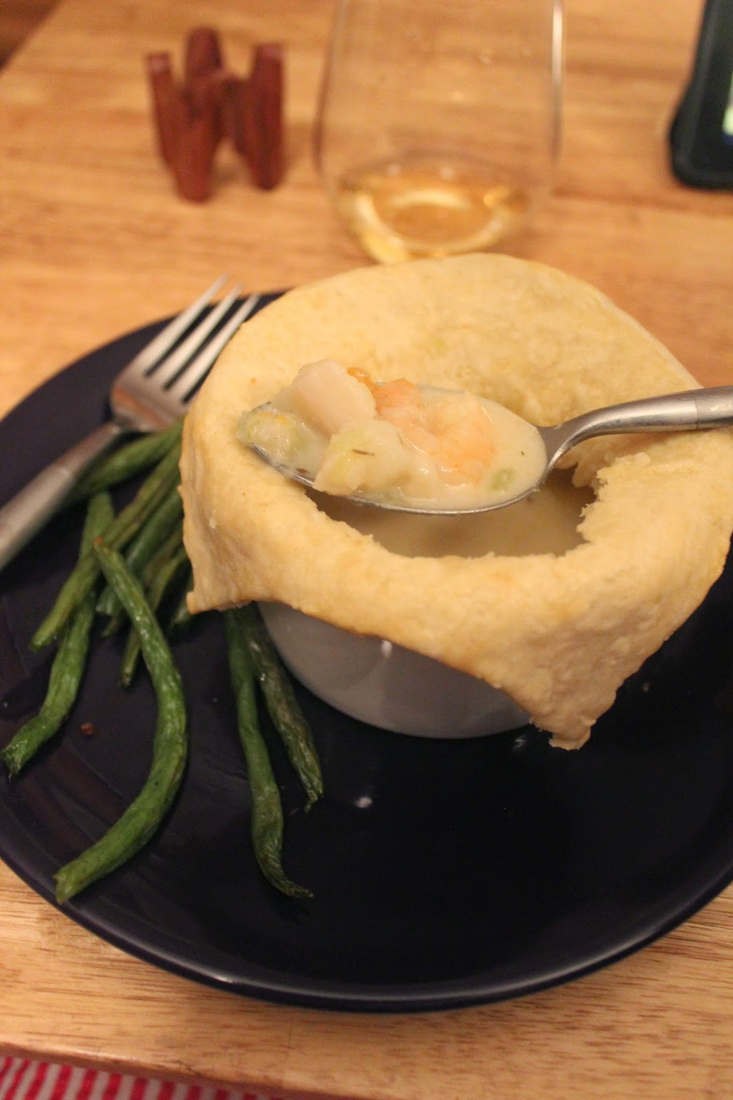 Easily Adaptable Shrimp and Scallop Pot Pie or Chowder | Runway Apricot