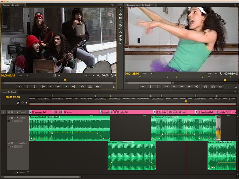"Editing the ""Flesh: Meet the Band"" video in Adobe Premiere Pro."