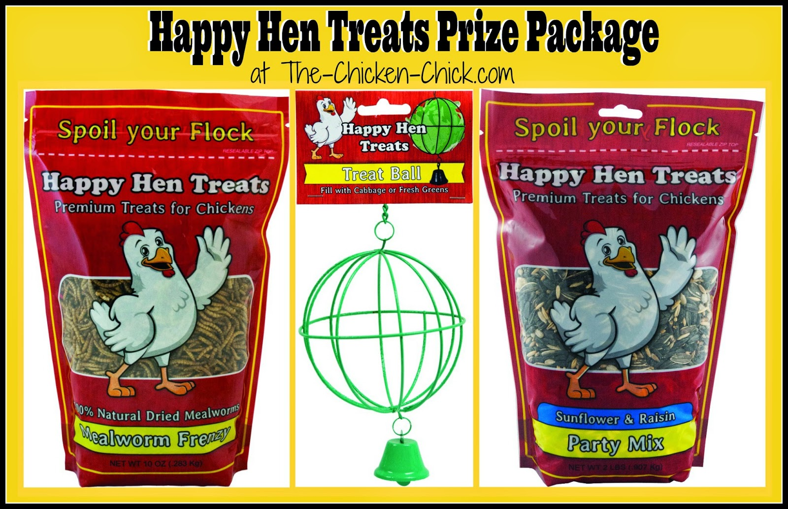 Happy Hen Treats Prize Package GIVEAWAY at www.The-Chicken-Chick.com