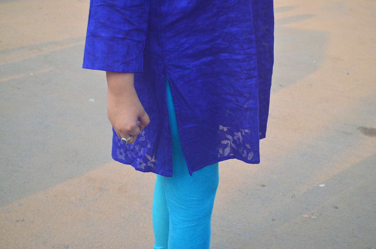 blue sasthi outfit