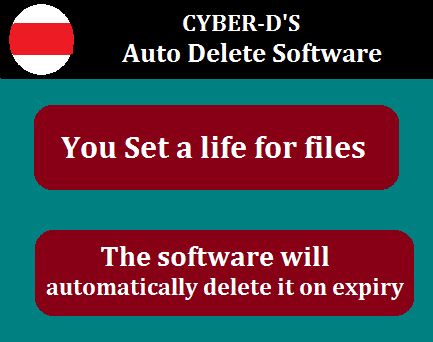 Cyber-D's Auto delete software Works-Set Life for Your Files-Folders