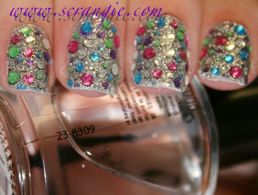 Scrangie: Testing out the Kiss Nail Dress Jeweled Nail Art Strips