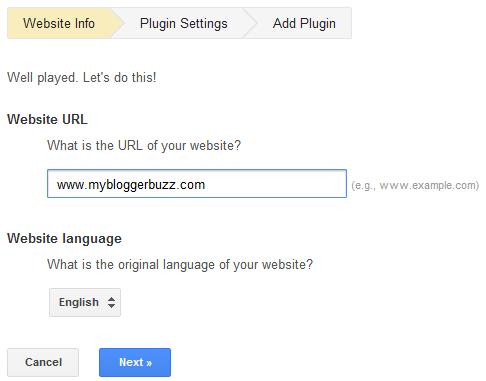 how to put google translate on my website