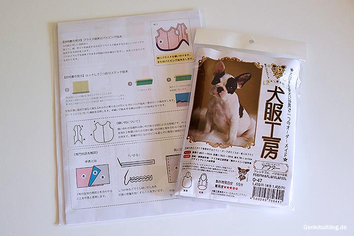 Schnittmuster Hundekleidung für Französische Bulldogge
