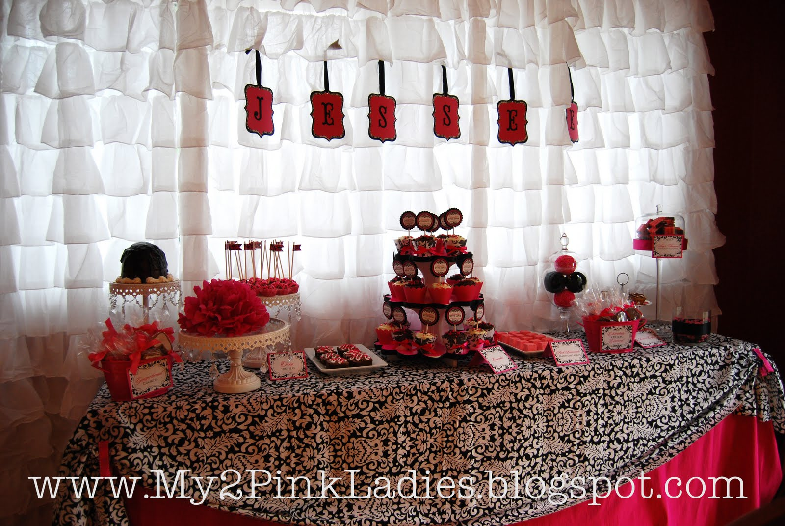 Posh Little Parties: {Real Parties} Damask Baby Shower - Black ...
