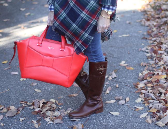 kate spade bag, tory burch boots