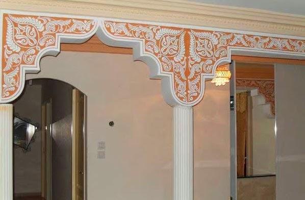 D coration salon marocain d coration de faux plafond for Decoration faux plafond marocain