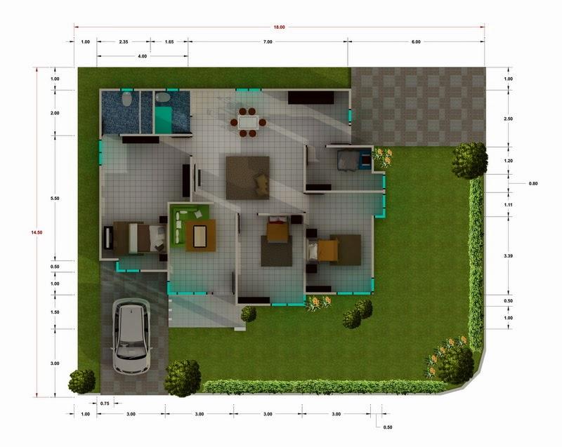 Desain Rumah Minimalis 1 Lantai Hook