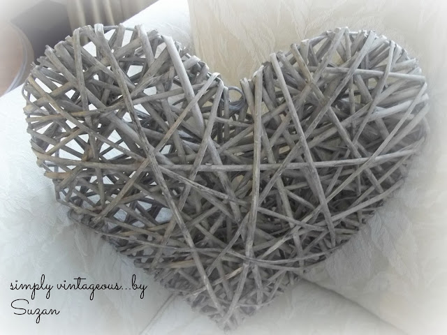 woven, heart, decoration