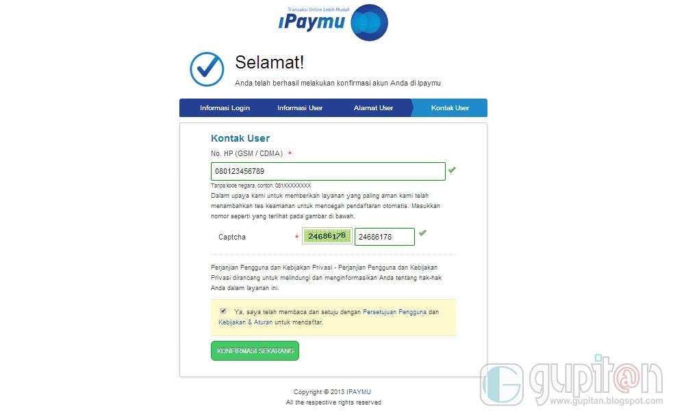 Cara Daftar iPaymu 2014 5