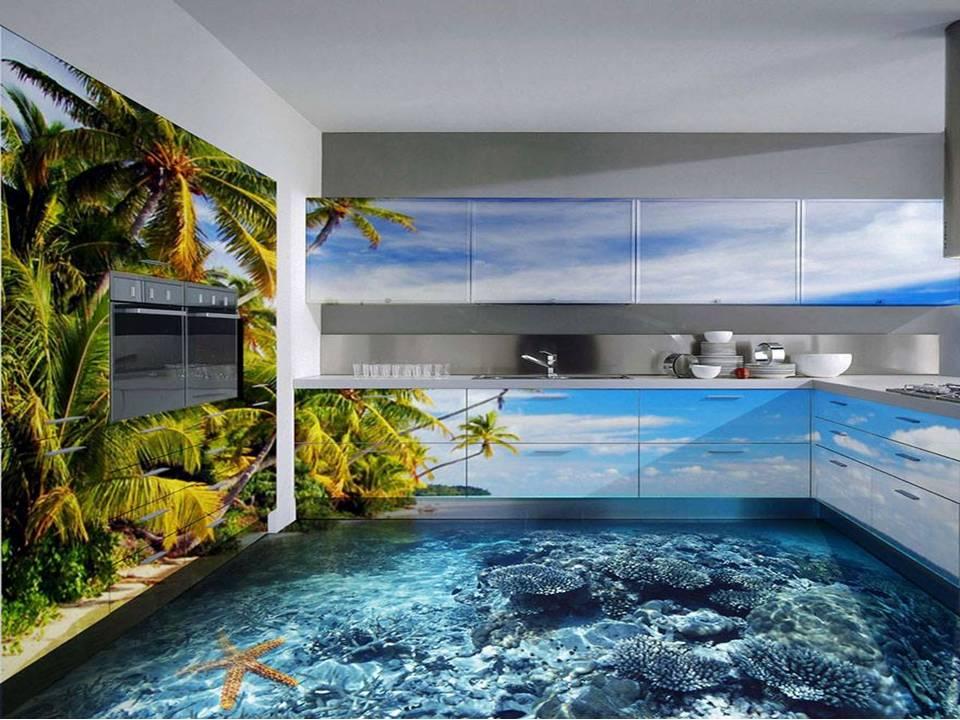 3D Epoxy Bathroom floors - Home Decor